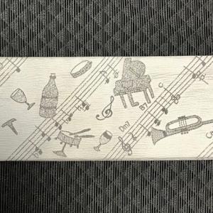 音符や楽器&お酒・西陣まいづる男物・角帯。
