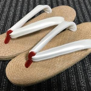 NYからリモートでご注文の素敵なパナマの草履(2)
