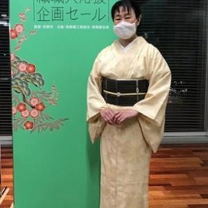 西陣織元コレクション・会場スタッフさんの着物姿。