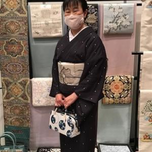 西陣織元コレクション・ご来場の着物姿のお客様。