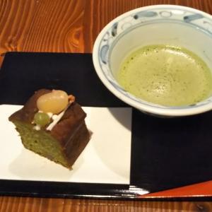 長谷川製茶さんの有機抹茶と、お茶の間のおとさんのお濃茶のけーきでティータイム(*^O^*)