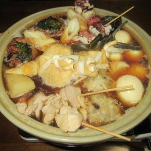 ★鹿嶋の太刀魚スープで作る、太刀魚・真鱈・干し貝の薩摩揚げ、海鮮シュウマイ入り超釣魚おでん鍋♪