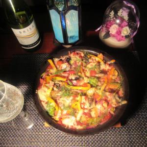 ★片貝のキンメ・鯖のニョクマム漬け風干しのトマト・チーズ焼きでシャルドネ一杯♪