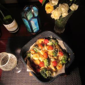 ★新潟の真鱈のタンドリー真鱈カマ、マゴチ、チキン、シュリンプ、ブロッコリーのチーズ焼き♪