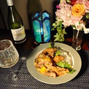 ★新潟の真鱈とホッケフライ入り真鱈・鶏ガラスープで作るグリーンカレー~デジイチカメラデビュー♪