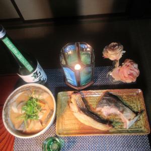 ★剱崎ワラサのアラ・鶏ガラコラボスープでワラサの粕汁、塩麹焼きと新潟真鯛の粕味噌漬け焼き♪