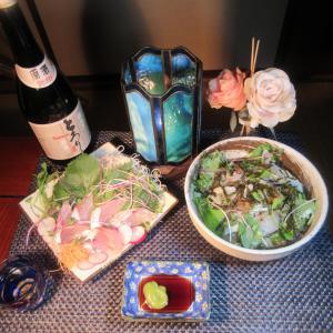 ★新潟イナダ腹身の刺身と鹿嶋のヒラメ・マゴチ昆布〆炙り茶漬けのランチ♪