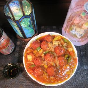 ★特製スープで作る真鯛・フグ・帆立・豚肉の肉団子甘酢餡かけ、餃子、親子丼、豚冷しゃぶうどん♪