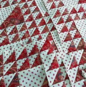 ◆三角パッチのベッドカバー