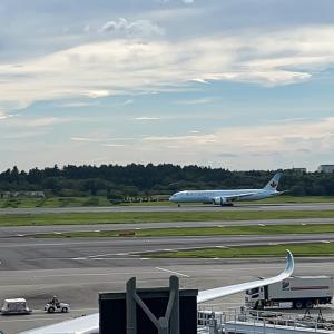 初フライトは成田便
