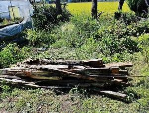 木造ハウス解体と亀甲ルリ兜と白星と