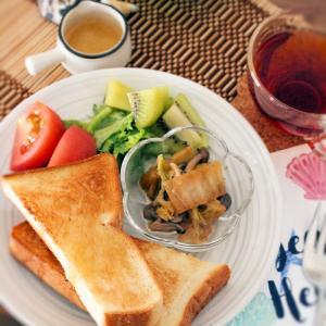 朝ごはん*ティファールを買い換えました。耐久性など。はちみつしょうがトースト朝ごはん再び