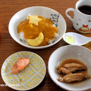 朝ごはん*流行の風邪でやられた娘の食欲、水菜サンドの朝ごはん