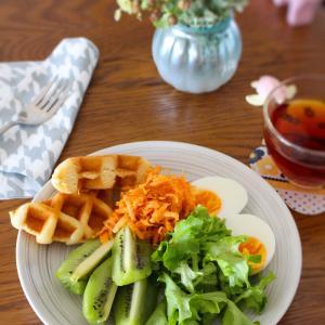 朝ごはん*梅雨時期のむくみを軽減する私的食べ方、レアケース更年期に怯え、どうしてこうなった!?卵