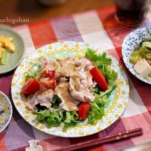 よるごはん*簡単でお得な副菜がお役立ちの日、結局この作り方・・冷しゃぶは午前に作る。