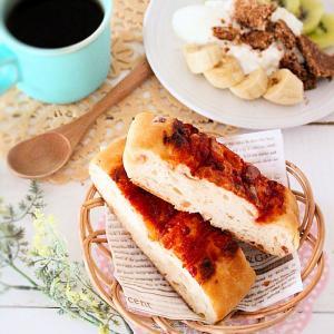 朝ごはん*相変わらずの好き勝手。習い事って難しいもの。味付きフォカッチャで助かる朝ごはん