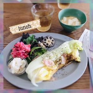 [ワンプレート]お昼ごはん、白菜のステーキ