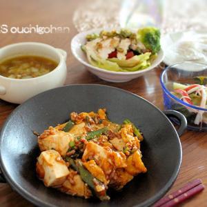 麻婆豆腐で時短晩ごはん