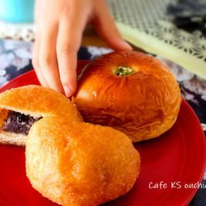 朝ごはん*こころにあまい「あんぱんや」のあんぱん。懐かしい味。
