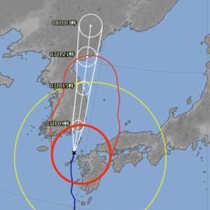 台風10号は深夜に強風が吹きました。