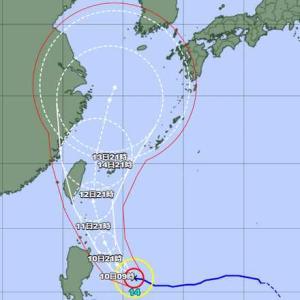 台風14号は来週東シナ海へ
