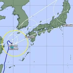 台風14号でず~っと雨です。