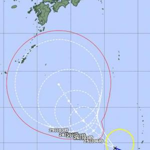 台風16号発生 来週は北上!
