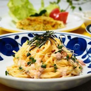 ♪明太クリームスパゲティ&むね肉のチーズパン粉焼き♪
