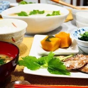 ♪豆腐と豚ミンチのレンジ蒸し&さんまの竜田揚げ♪