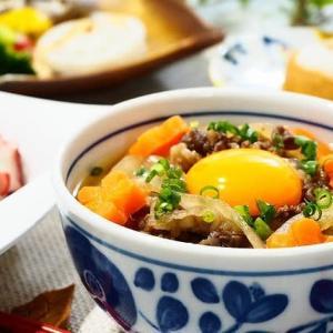 ホカホカ♪肉うどん&蒸し野菜のサラダ♪