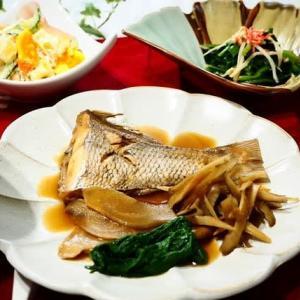 ご飯がすすむ♪鯛の煮つけ&ポテトサラダ♪