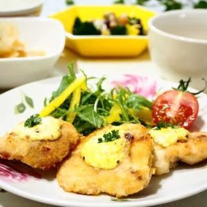 15分レシピ♪鶏むね肉のマスタードマヨ焼き♪