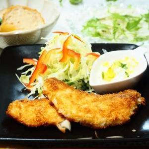 旬の味を堪能☆たらのフライ&ホタテの炊き込みごはん☆
