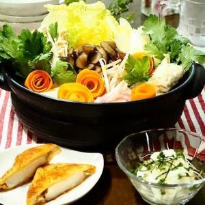 体の中からホカホカ♪自家製キムチ鍋&たたき長いものポン酢あえ♪