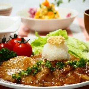 ☆おろしたっぷり 豚肉のしょうが焼き&卵ポテトサラダ☆