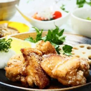 みんな大好き☆鶏のから揚げ&新玉ねぎのサラダ☆