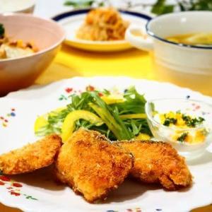 ♪サーモンフライ タルタルソース添え&和風カレースープ♪