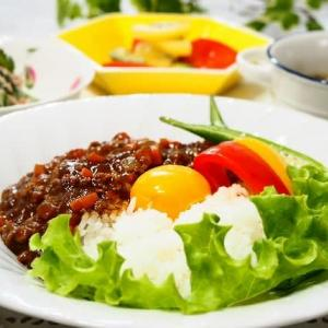 ♪卵黄カレー&ゴーヤーのツナサラダ♪