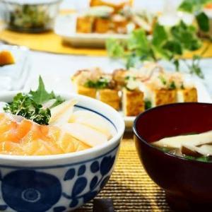 ☆海鮮丼&かぼちゃのレンジ煮☆