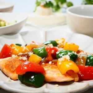 ♪鮭の甘酢あんかけ&サラダチキンの粒マスタードマリネ ♪