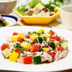 ♪豚しゃぶとたっぷり野菜のジンジャードレッシングサラダ♪