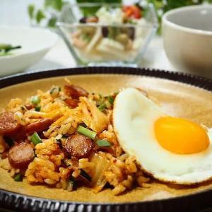 ♪キムチ炒飯&ホタテと小松菜のしょうが炒め♪