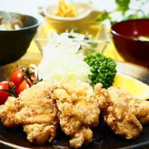 ♪鶏のから揚げ&きのことさつま芋のご飯♪