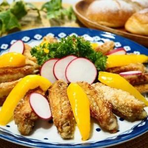 ♪鶏のから揚げ&チーズオムレツ♪