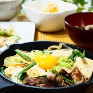 ガツンとおいしい♪豚肉と豆腐のすき焼き風炒め♪