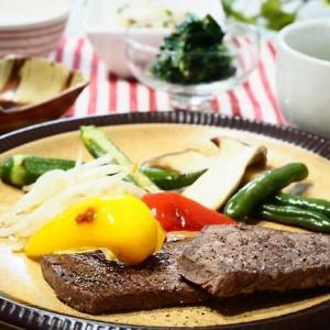 ☆ステーキ&ほうれん草の粒マスタードあえ☆
