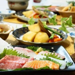 和食でほっこり♪お刺身と茶碗蒸し♪