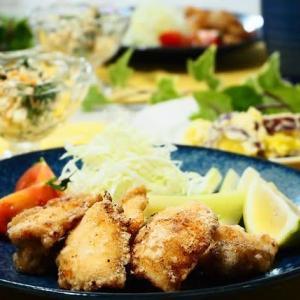 ♪鶏のから揚げ&ダブルポテトサラダ♪