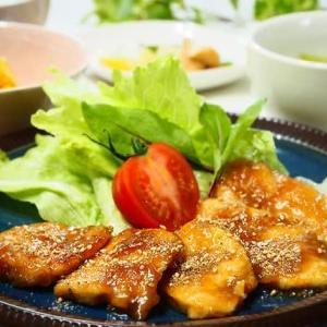 コク満点☆鶏むね肉のごま照り焼き&ねぎの煮びたし☆