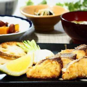 冬至の日の献立♪魚の竜田揚げ&かぼちゃの煮もの♪